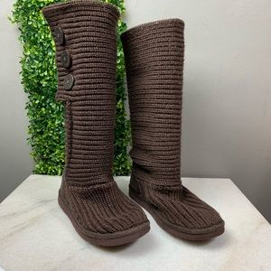 d670675e81a UGG Cardy Java Brown Knit Boots